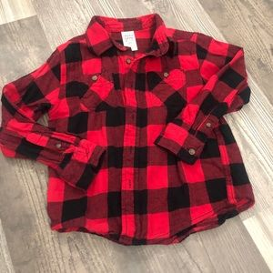 Faded Glory Buffalo Check Red & Black Flannel 6
